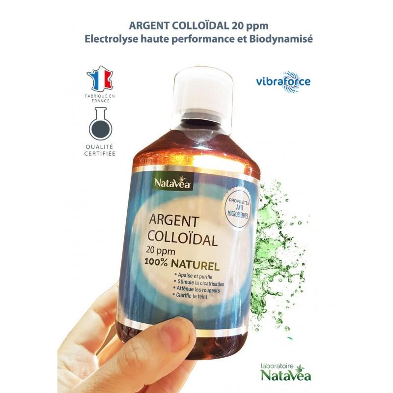Argent Colloidal 20 ppm Biodynamisé - 500ml - NataVéa Laboratoire