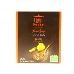 Thé Rooibos Citron-Gingembre - 20 Sachets - Thé de la Pagode