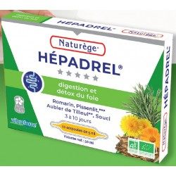 Hépadrel Bio - foie, vésicule, digestion, détox - 10 ampoules - Naturège Laboratoire