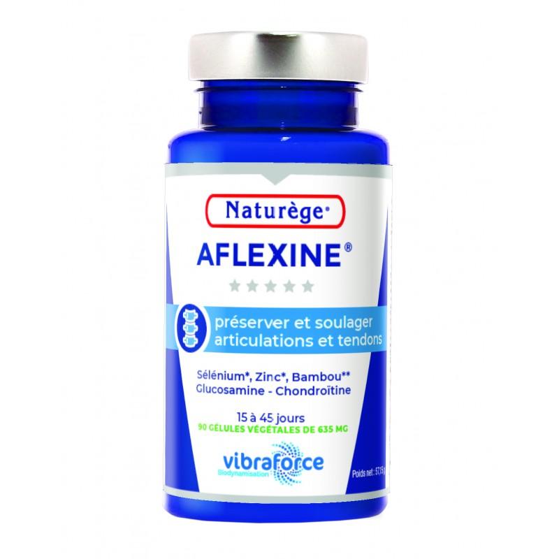Aflexine Naturège   Glucosamine   Chondroitine - Répare le cartilage - 90 gélules végétales VIBRA - Naturège