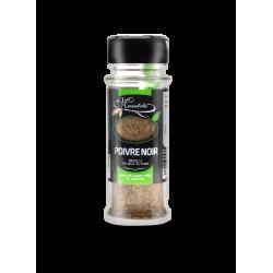 Epice Bio Poivre noir moulu - Flacon distributeur verre 30 g - Masalchi