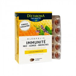 Oléopolis - Immunité : Nez-Gorge-Bronches - 6 Huiles Essentielles - 60 Capsules - Dietaroma