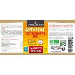 Apivital Concentré Bio - 50 ml - Immunité & Vitalité - Trésor des Abeilles