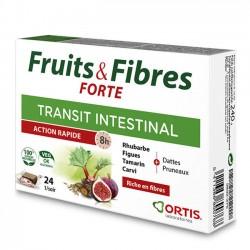 Fruits et Fibres Forte Transit Intestinal Action Rapide - 24 Cubes - Ortis Laboratoire