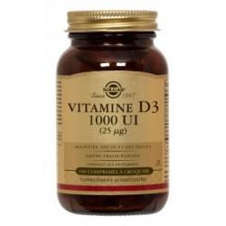 Vitamine D3 1000 UI (25µg) - 100 Comprimés - Solgar