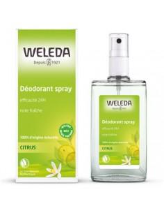 weleda déo citrus Déodorant Citrus 100 % d'origine naturelle - Spray 100 ml- Weleda