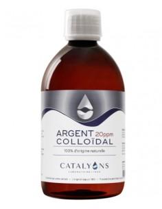 Argent colloïdal - Flacon 500 ML 20 ppm - Catalyons