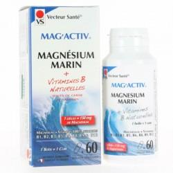 Mag'activ - Magnésium Marin - 60 gélules végétales - Vecteur Santé