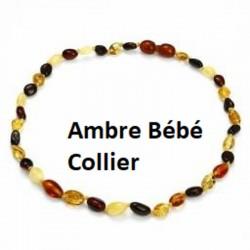 Collier bébé Ambre multicolor