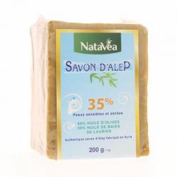 Savon Alep 35% de baies de laurier - Pain savon 200g  - NataVéa