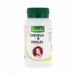 Cheveux & Ongles - Accélère la pousse des cheveux, renforce ongles, peau éclatante -  90 gélules - NataVéa