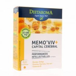 Memo'viv + Capital mémoire - 60 Comprimés - Dietaroma