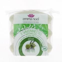 3 Savons Huile olive pack promo - Emma Noel