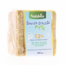 Savon Alep 12% de baies de laurier - 300 g - Natavéa