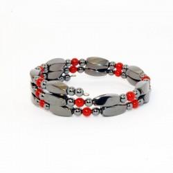 Bracelet Grenade/Hématite - Magnétique Vibration