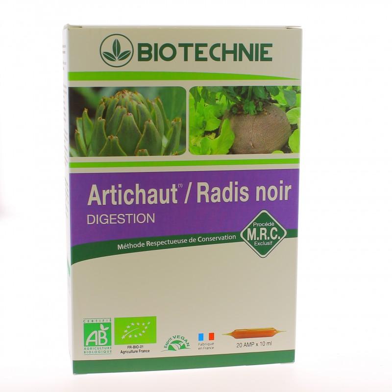 Artichaut / Radis Noir Bio - 20 Ampoules - Biotechnie
