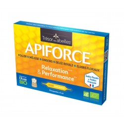 Apiforce Relaxation et Performance Bio - 10 ampoules - Trésor des Abeilles