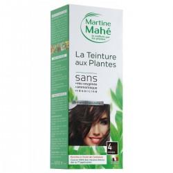 Coloration aux plantes Teinture n°4 Châtain - 250 ml - Martine Mahé