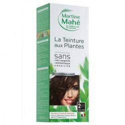 Martine Mahé-teinture N° 2 Chatain Foncé coloration aux plantes