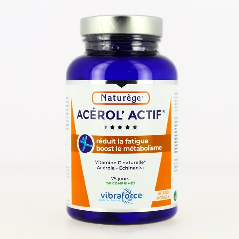 Acerol'actif  - Acérola - Vitamine C  - 150 Comprimés - Naturège Laboratoire