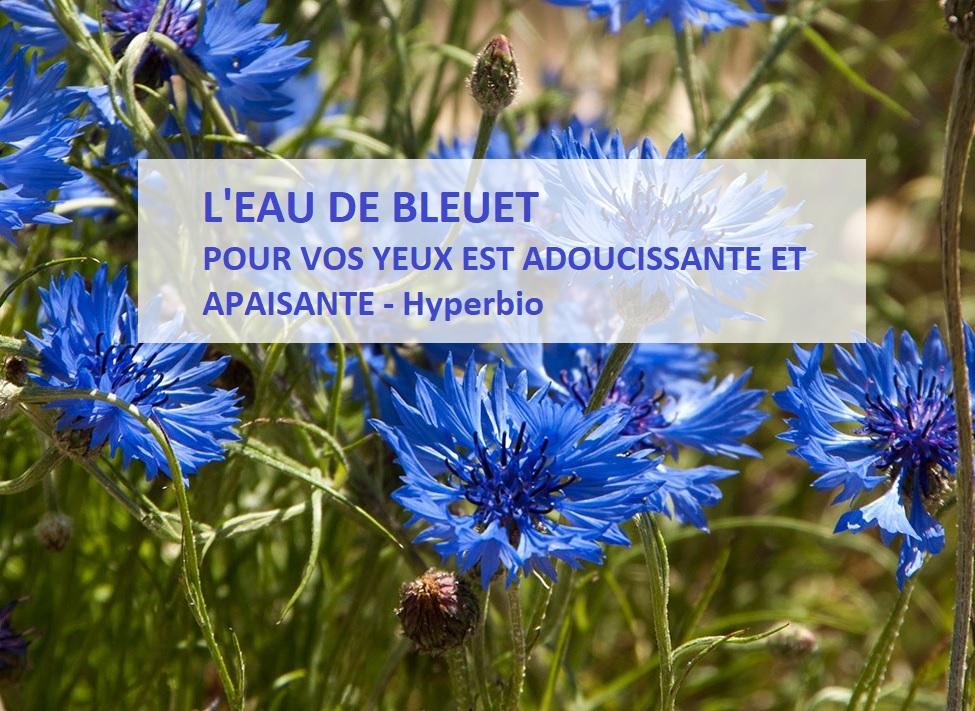 bleuet eau florale pour les yeux